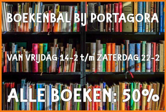"""Boekenbal bij #PortAgora  Het is nog """"lang"""" geen Boekenweek, maar bij PortAgora is het vanaf vrijdag 14 februari wél BoekenBal: álle boeken 50%! 50% korting, 50% van de normale prijs... maar net wat je leest! 😉 En o ja, álle boeken dus, echt niet alleen die over de liefde... 😉 #PortAgora #KringloopWarenhuis #CentrumEuropeseSamenwerking #kringloop #kringloopwinkel #tweedehands #vooreenprikkie #korting #aanbieding #actie  #reclame #goedkoop #Tilburg #TilburgCentrum #KoningspleinTilburg #recycle #reuse #thriftshop #socialeprojecten #goededoelen #studenten #boeken #boekenbal #boekenweek #50% #halveprijs"""